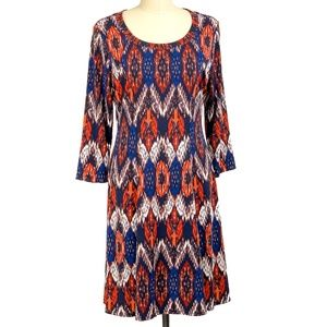 Karen Kane Dress Pullover 3/4 Sleeve A-Line XL